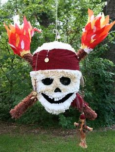skull pinata- for boys pirate party! Pirates of the Caribbean Pirate Party Games, Pirate Theme, Pirate Birthday, Boy Birthday Parties, Carribean Party, Homemade Pinata, Party Fiesta, Pirates Of The Caribbean, Childrens Party