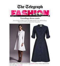 The Daily Telegraph features the dress coat..2015 x