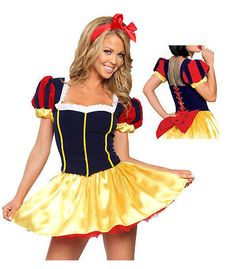 New Sexy Classic Snow White Cosplay Costumes dress,women sexy halloween apparel,sexy party dress New $19.99