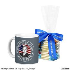 Hillary Clinton US Flag Classic White Coffee Mug