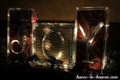 Glass block crafts - Christmas joy