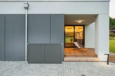 Abfallbox Shade Garden, Pergola, Divider, Garage Doors, Gardening, Outdoor Decor, Modern, Furniture, Design