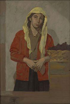 Autumn France, (Oil on kraft paper)Yannis Tsarouchis, Greek painter Greece Painting, Main Theme, Greek Art, Art Database, Portraits, Caravaggio, Gay Art, Figurative Art, Art Boards