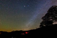 Milky way from Paicines, California near Pinnacles National Park