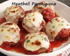 Meatball Parmigiana Tender, juicy and full of flavour, a good Italian meatball is a beautiful thing. http://100waystopreparehamburger.blogspot.ca/