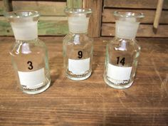 Free Shipping Apothecary lab glass bottle s Lot of 3 Wheaton Label Pharmacy laboratory.