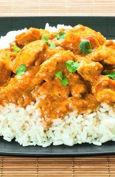 Low FODMAP Recipe and Gluten Free Recipe - Boneless chicken curry with rice