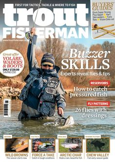 Trout Fisherman magazine will fulfill your tackle, instruction and where to fish needs. In this issue; Buzzer skills - how to catch pressured fish Fly Fishing Books, Fishing Magazines, Carp Fishing, Sea Angling, Types Of Fish, Trout, New Books, Baseball Cards, Arctic Char