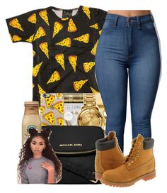 """UNTITLED #174"" by yourstrulylanah ❤ liked on Polyvore featuring Casetify, MICHAEL Michael Kors and Timberland"