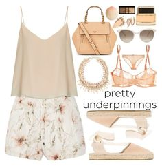 """Pretty Underpinnings!"" by nvoyce ❤ liked on Polyvore featuring Eres, Tory Burch, Haute Hippie, Raey, Soludos, Chopard, Givenchy, Tony Moly, NYX and STELLA McCARTNEY"