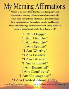 "Vision Boards And Affirmations | Vision Board / Hi everyone! Here is a ""Morning Affirmations"" post"