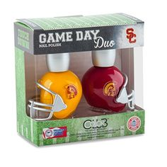 USC TROJANS GAME DAY DUO NAIL POLISH SET-UNIVERSITY OF SOUTHERN CALIFORNIA NAIL POLISH-INCLUDES 2 BOTTLES AS SHOWN Color Club http://www.amazon.com/dp/B00UU6C27S/ref=cm_sw_r_pi_dp_l8p5vb1D1BWKA