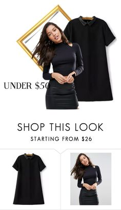 """Untitled #3848"" by mariaisabel701 ❤ liked on Polyvore featuring ASOS, under50 and skirtunder50"