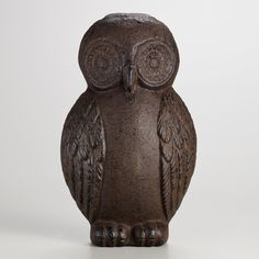 {cast iron owl doorstop} wide-eyed vintage-inspired piece harkens back to the victorians who were the first to use sculptural elements to prop open a door. $9.99 | world market