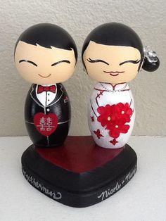 Asian cake topper wedding
