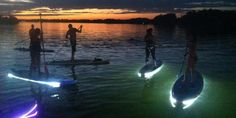 Take a midnight float on an amazing glowing paddleboard in the Florida Keys.