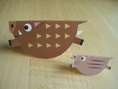 古鉄恵美子のday by day Pig Crafts, New Year's Crafts, Diy Arts And Crafts, Preschool Crafts, Fall Crafts, Paper Crafts, Animal Crafts For Kids, Toddler Crafts, Diy For Kids