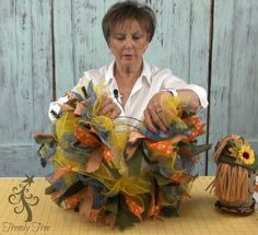 DIY Scarecrow on a Wreath 2015 - Blackpinto Christmas Mesh Wreaths, Thanksgiving Wreaths, Holiday Wreaths, Halloween Wreaths, Autum Wreaths, Floral Wreaths, Spring Wreaths, Summer Wreath, Fall Scarecrows