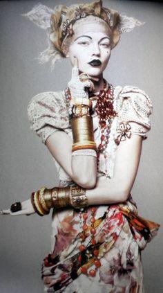 Rodarte photographed by David Sims for Vogue, 2010. Model: Sasha Pivovarova.