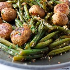Green Bean and Meatball Stir-Fry - Skinny Ms.