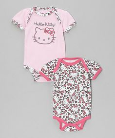 Take a look at this Dark Pink Bodysuit Set - Infant by Hello Kitty on #zulily today!  http://www.zulily.com/invite/Zulily20Store