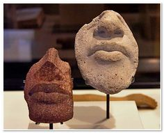 Fragment and sculptor's study of faces of mouth and nose From Amarna. 18th dynasty, 1351-1334 BC.