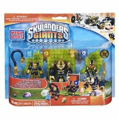 Amazon.com: Skylanders Giants Mega Bloks Set #95411 Legendary Pack [Chop Chop, Jet-Vac & Bouncer]: Toys & Games