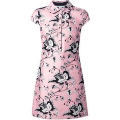Diane Von Furstenberg 'Morgan' shirt dress (1.120 BRL) ❤ liked on Polyvore featuring dresses, vestidos, t-shirt dresses, diane von furstenberg, pink dress, shirt dress and multi color dress