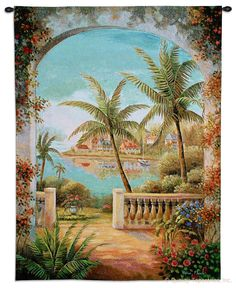 Tropical Terrace Wall Tapestry