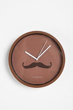 What is it about mustaches... The stache clock at Urbanoutfitters.com