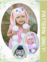 Sweet Bunny Hat Crochet Pattern. Pattern includes instructions for boy or girl bunny with open or closed eyes. Perfect for Easter or any occasion where you could use a little extra dose of cuteness! www.briabby.com