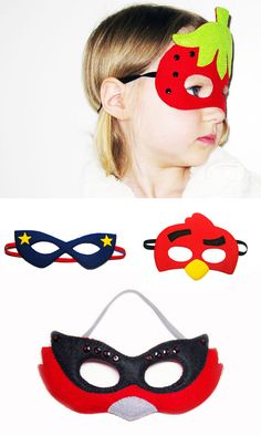 Felt party masks in Adult parties such as dinners and celebrations, anniversaries and birthdays