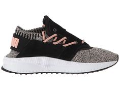 PUMA Tsugi Shinsei evoKNIT Women s Shoes Puma Black Whisper White Castor  Gray 99f3779cf