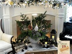 Jennifer Rizzo: Holiday housewalk day 5!!!! Christmas Arrangements, Deck The Halls, Holiday Fun, Christmas Time, Christmas Decor, Holiday Ideas, Christmas Ideas, Winter Wonderland, Mantle