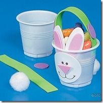 Easter party prep just got a whole lot easier with these cute DIY bunny cups. Easter Projects, Easter Crafts For Kids, School Projects, Cup Crafts, Bunny Crafts, Diy And Crafts, Spring Crafts, Holiday Crafts, Diy Ostern