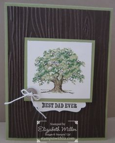 stampin up lovely as a tree stamp set card. woodgrain folder. 126