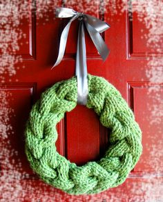 Knit Cable Wreath