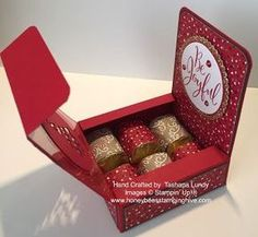 Honeybees Stamping Hive: Be Joyful Nugget Box with Instructions - Crafting Practice 3d Christmas, Christmas Paper Crafts, Christmas Wrapping, Handmade Christmas, Craft Box, Craft Sale, 3d Craft, Candy Crafts, Envelope Punch Board