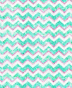 """""""Chevron Pattern Girly Teal Pink Glitter photo"""" Photographic Prints by GirlyTrend 