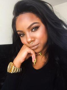 pinterest : @theylovekandi Eyebrows On Fleek, Makeup On Fleek, Flawless Makeup, Gorgeous Makeup, Beauty Makeup, Hair Makeup, Hair Beauty, Black Girl Makeup, Girls Makeup
