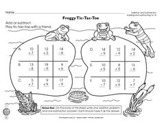 Math Worksheet: addition and subtraction