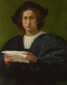 Portrait of a Young Man Holding a Letter, 1518; National Gallery of Art, London