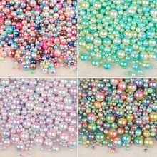 Buy No Hole Rainbow Color Round Mixed Size ABS Imitation Pearl Beads no hole Loose Beads Diy Jewelry Necklace Making for women at Wish - Shopping Made Fun Diy Jewelry Necklace, Jewellery, Coral, Cheap Beads, Acrylic Colors, Pearl Beads, Luxury Jewelry, Rainbow Colors, Jewelry Accessories
