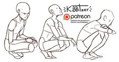 squatting reference sheet -PREVIEW-   kibbitzer on Patreon