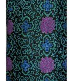 Chinese Fabric, Rich flowers pattern Brocade fabric