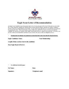 eagle scout recommendation letter sample eagle scout letters of recommendation template best template