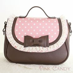 Pink & Brown With Bow Purse♥