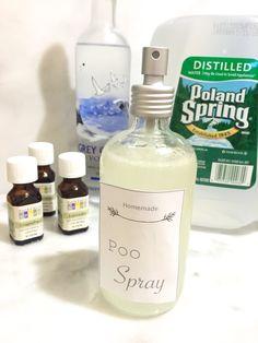 DIY Poo Spray and free printable labels.  Poopourri diy