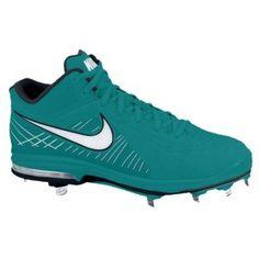 Nike Air Max MVP Elite 3/4 Metal - Men's - Baseball - Shoes - Fresh Water/White Baseball Shoes, Batting Gloves, Foot Locker, Cleats, Nike Air Max, Vans, Footwear, My Style, Sneakers