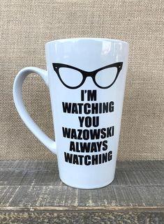 Monsters Inc I'm watching you Wazowski mug #Disney #MonstersInc #Pixar #MikeWazowski #Mug #Coffee #HotCocoa #Monster